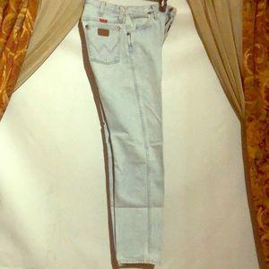 Women's White Washed Wrangler Pants